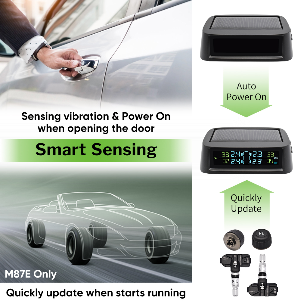 Image 3 - Deelife Solar TPMS Car Tire Pressure Monitoring System Alarm Auto Smart Control External Internal Wireless Tyre Pressure Sensor-in Tire Pressure Alarm from Automobiles & Motorcycles