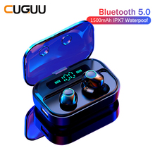TWS BT5.0 Bluetooth Earphone Stereo Wireless Earbuds Sound Sport Earphones Mini Headset With Mic IPX7 Waterproof LED Display M7 5 0 bluetooth mini 3d stereo sound ouch control hifi earphone with mic sport ipx7 waterproof tws wireless earbuds stereo headset