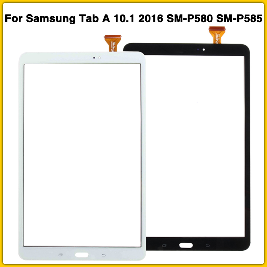 New P580 Touchscreen For Samsung Tab A 10.1 2016 SM-P580 SM-P585 P580 Touch Screen Panel Digitizer Sensor Front Glass