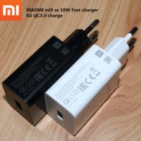 18W cargador Xiaomi MI A3 cargador rápido de la UE QC3.0 adaptador de carga para xiaomi 8 9 lite se 9t pro max 3 redmi Nota 7 8 pro k20