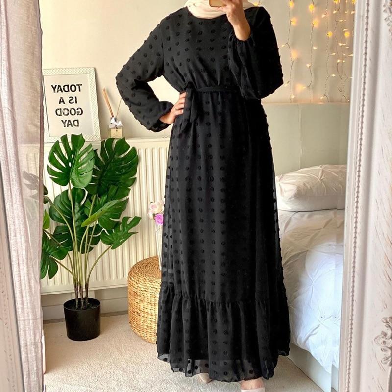 Abaya Dubai Turkey Hijab Muslim Fashion Dress India Islam Clothing Dresses for Women Dress 4