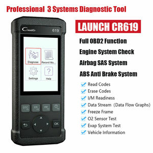 LAUNCH Airbag SRS Scanner CR619 OBD2 Engine Code Reader OBD 2 Auto Scanner ABS Diagnose Tool Free Update LAUNCH Car Accessories