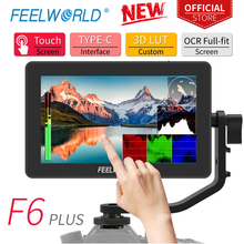 FEELWORLD F6 בתוספת 5.5 אינץ על מצלמה DSLR שדה צג 3D LUT מסך מגע IPS FHD 1920x1080 וידאו פוקוס לסייע תמיכת 4K HDMI