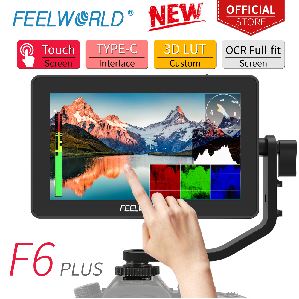 FEELWORLD F6 PLUS 5 5 Inch on Camera DSLR Field Monitor 3D LUT Touch Screen IPS FHD 1920x1080 Video Focus Assist Support 4K HDMI
