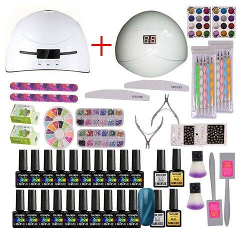 Стартовый набор для гель-лака горячая Распродажа 100% с УФ светодиодный светодиодной лампой, инструмент для творчества