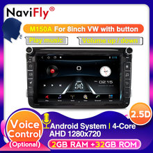 Europeo magazzino 2din Quad core Android 9 dispositivo Multimediale per Auto per Volkswagen VW Golf Passat B6 Polo CC Skoda sede(China)