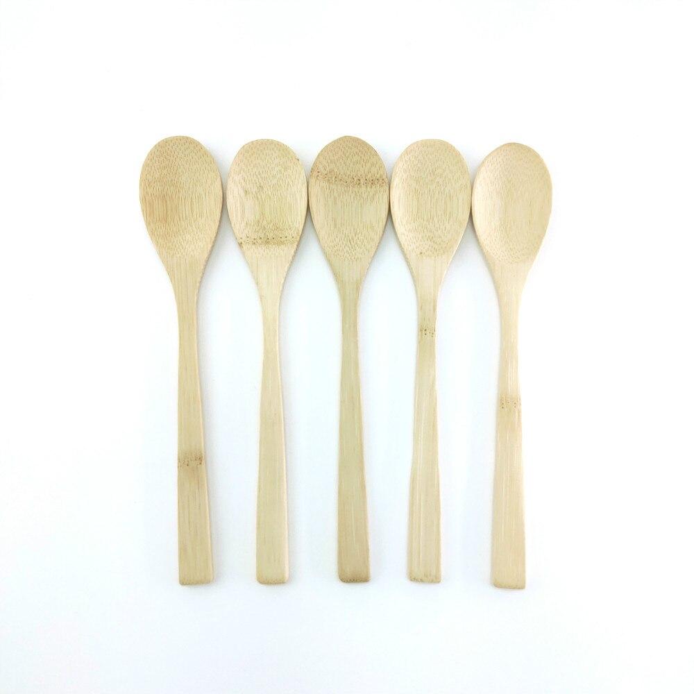 6 Wooden Scoop Teaspoon Coffee Kitchen Cooking Condiment Utensil Catering Spoon