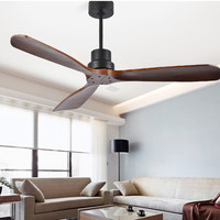Nordic Style Vintage Ceiling Fan Wood Without Light Creative Design Bedroom Dining Room Ceiling Fans Dropshipping