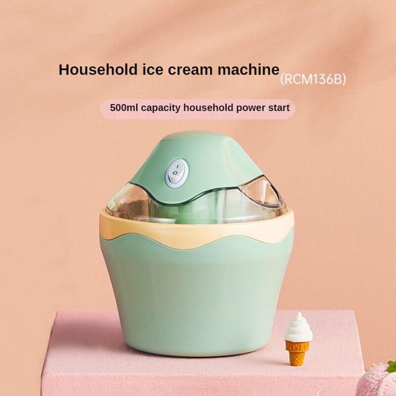 Home ice cream machine with battery portable homemade fruit yogurt ice cream machine automatic small cone machine 220v 50hz