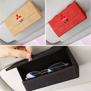 Image 2 - Car Sun Visor Glasses Box Storage Holder Sunglasses Case for Mitsubishi RALLIART ASX Lancer Colt Pajero Outlander Eclipse Galant