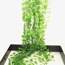 2.4M Artificial Ivy Plastic Home Decor Flower Rattan string green Leaf Garland Plants Vine Fake Foliage Flowers
