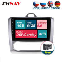 Gps Navi 4GB RAM Android 9.0 Car Multimedia player For Ford Focus 2004-2011 Radio Audio stereo head unit free map touch screen