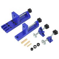 Wood Plank Punch Locator Drill Guide Manual Jig Woodworking Dowel Positioner Convenient to Use.