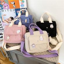 Bolsa de mensajero estilo Preppy para estudiantes, bolso de nailon para chicas, 2020, bandoleras cruzadas