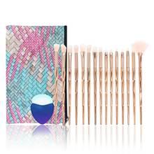 Набор золотых косметических кистей для макияжа niziyi 15 шт