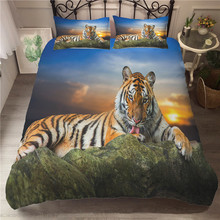 A Bedding Set 3D Printed Duvet Cover Bed Tiger Home Textiles for Adults Bedclothes with Pillowcase #LH06