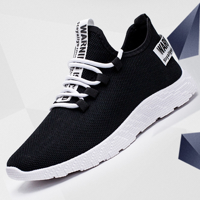 Men Sneakers New Breathable Lace Up Mesh Shoes