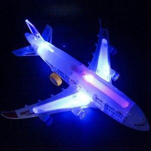 Image 4 - DIY הרכבה איירבוס מטוסי טייס אוטומטי פלאש קול מטוסים מוסיקה תאורה צעצועים חשמלי מטוס DIY צעצוע לילדים ילדים Gif