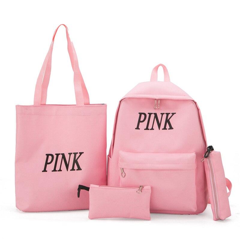 JIULIN nouvelle école-sacs à dos filles adolescentes dames femmes pour nouveau noir KL130 3 ensembles