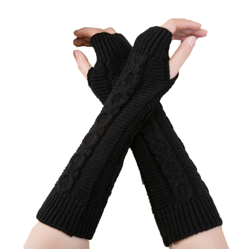 Sleeper #P501 2019 Fashion Unisex Men Women Knitted Fingerless Winter Gloves Soft Warm Mitten перчатки женские Hot Free Shipping