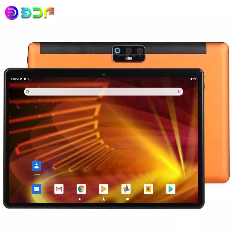 Новый Системы 10,1 дюймов Планшеты Android 9,0 3G/4g Телефонный звонок 4 Гб + 64 Гб Octa Core Wi-Fi Bluetooth GPS Dual SIM Tablet PC + клавиатура