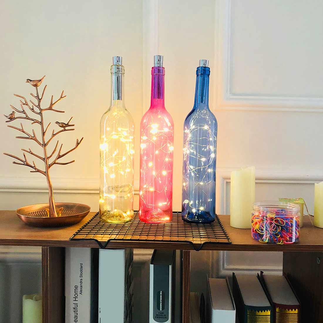 LED Cork Shape Battery1m/1.5m/2m  Power Fairy Light Garland Bottle String Lights  Christmas Decorations For Home Outdoor