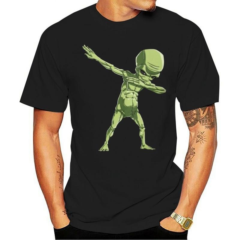 de manga curta 2021 t-shirt  dabbing alien dab hip hop presente engraçado