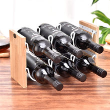 Solid wood double layer Red Wine rack wrought iron restaurant decoration wine frame stacking wine bar bottle storage rack simple solid wood wine frame wooden red wine rack creative wine frame hanger glass cup rack hanging cup frame wx6291103