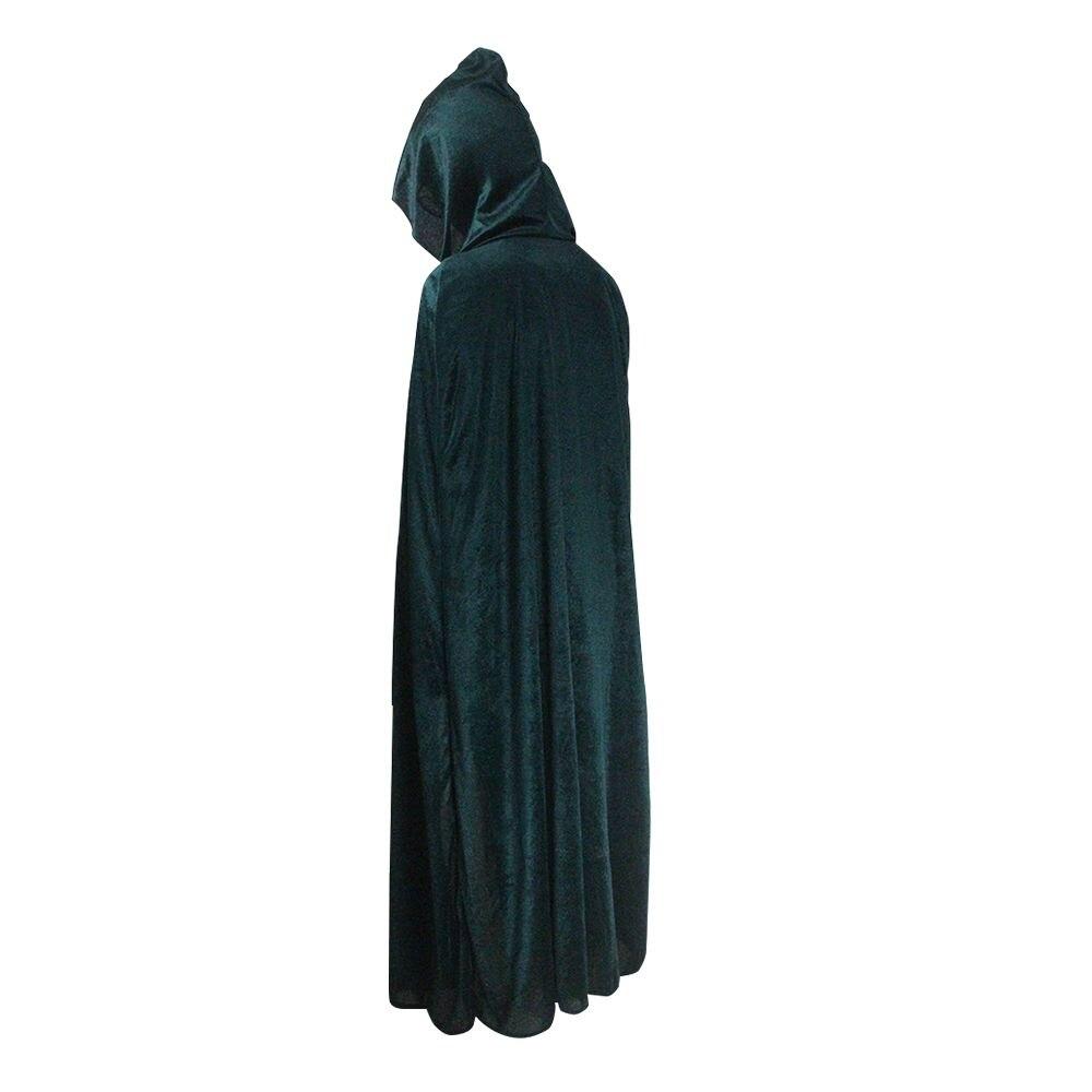CAPE Black HOOD Kids /& Adults Costume Warm Polar Fleece Cloak Witch Wizard