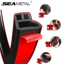 Seametal уплотнительная полоса для двери автомобиля звукоизоляция автомобиля Стайлинг стикер резиновые уплотнительные полоски клей авто отделка края шумоизоляция
