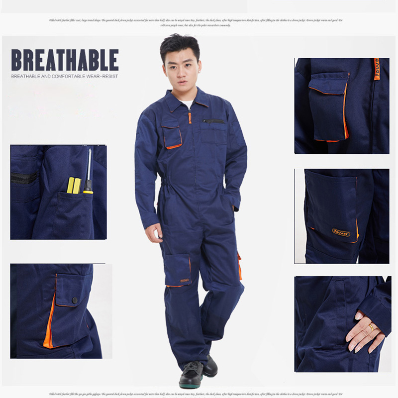 Mens Work Clothing Long Sleeve Coveralls High Quality Overalls Worker Repairman Machine Auto Repair Electric Welding Plus Size