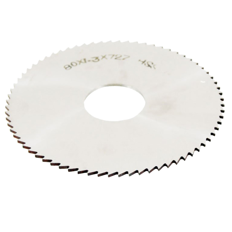 80mm OD Thickness 1.2mm HSS 72T Slitting Saw Blade Cutting Tool