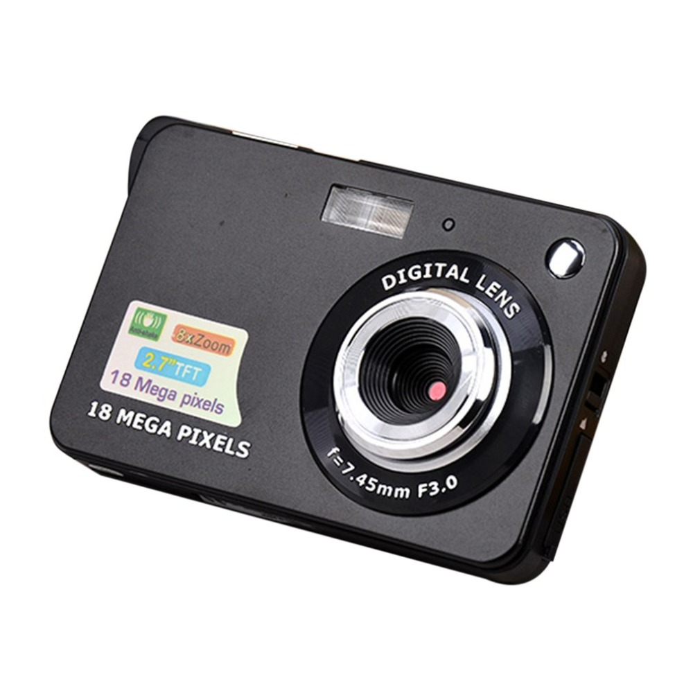 <font><b>2</b></font>.7 Inch <font><b>TFT</b></font> <font><b>LCD</b></font> Display 18MP 720P 8x Zoom HD Digital Camera Anti-Shake Camcorder Video CMOS Micro Camera Children Gift image
