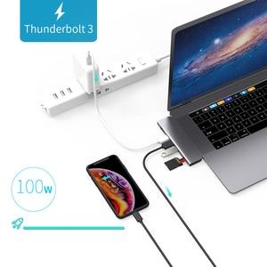 Image 5 - USB 3.0 Type C Hub к HDMI адаптеру 4K Thunderbolt 3 USB C Hub с Hub 3,1 TF SD Reader слот PD для MacBook Pro/Air 3,0 2018