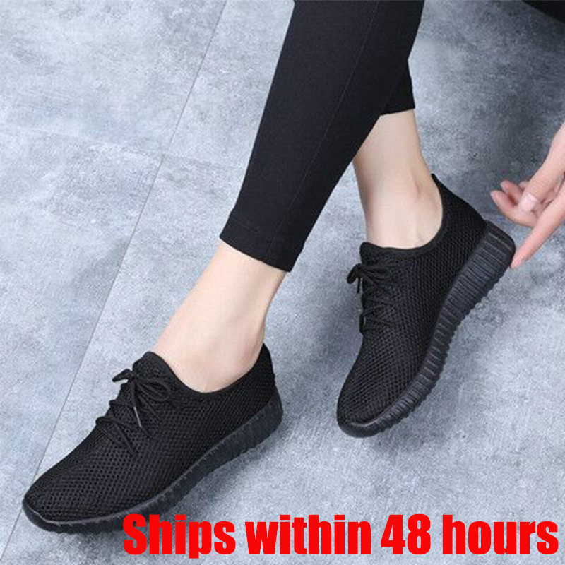 2020 Hot Sale Breathable Sport Sneakers Women's Leisure Breathable Air Mesh Outdoor Fitness Running Shoes Zapatillas Mujer Cheap