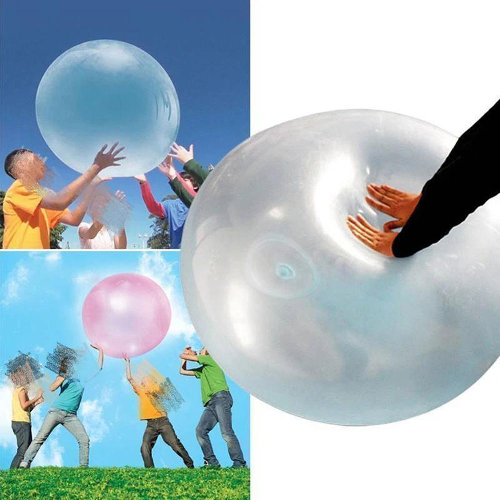 2020 New Baby Bubble Balls Soft Squishys Air Water Filled Balloons Blow Up For Children Summer Outdoor Games Bath Balloon Toys