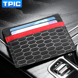 Image 3 - Alcantara Bank Credit ID Card Holder Card Package Coin Purse Men Wallet Thin Case For Mercedes W204 BMW E46 E90 Audi Mustang
