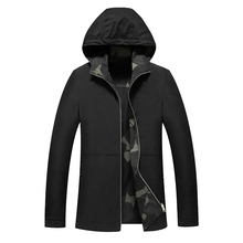 Paragraph Lang Legendary 2019 new Men Winter hooded Coat men Trench Overcoat standard conventional Double sided coat camouflage