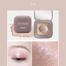 Novo textura 10 cor única alta luz sombra de olho purê batata shimmer pérola luz sombra de olho maquiagem ferramenta nova sombra tslm1