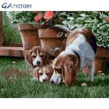 Gatyztory Раскраска по номерам diy живопись собаки для детей