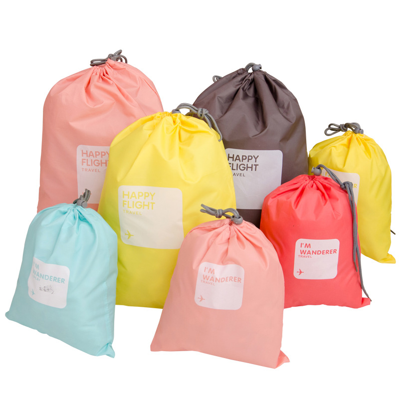 4pcs/lot Set Drawstring Travel Accessories Men and Women Clothes Classified Organizers Packing Bags Shoes Bags Luggage Bag