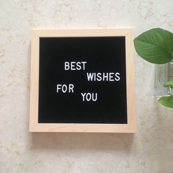 2020 Exploded Felt Letter Board Wooden Decorative Letter Board Home Message Board Felt Blackboard Made By Hand