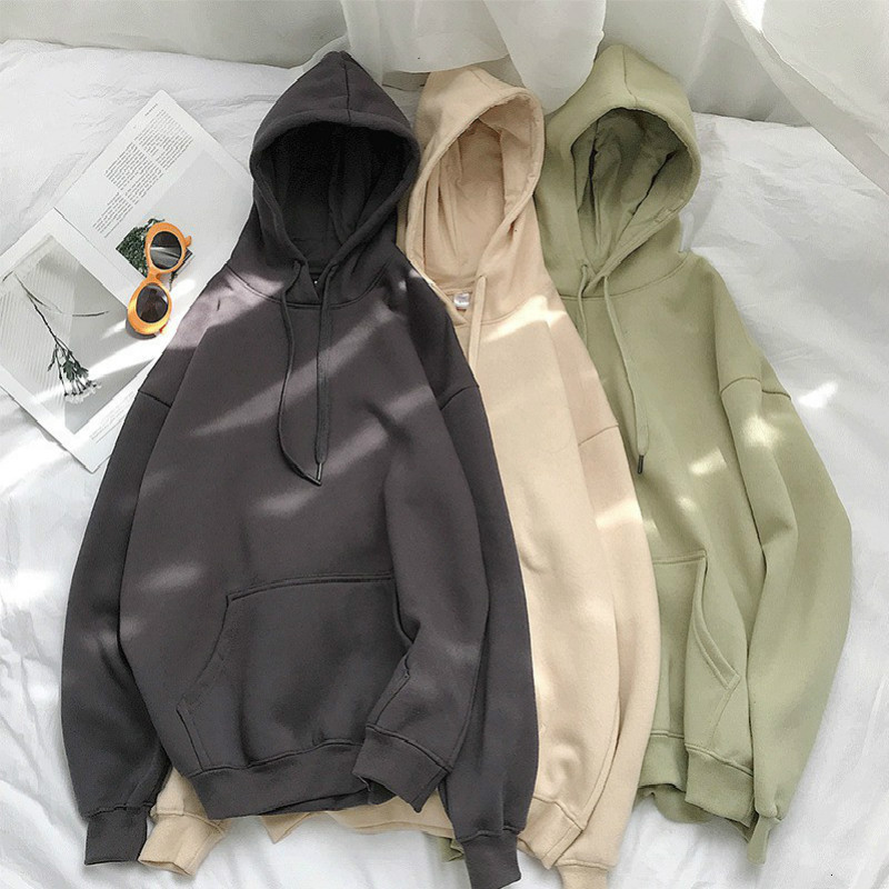 Permalink to Women Autumn Solid Color Hoodies Couple Long Sleeve Hooded Sweatshirt Men Spring Casual Plus Size Fashion Loose Pullover Tops