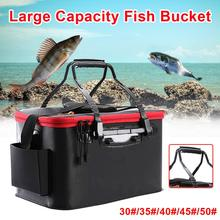 Portable EVA Fishing Bag Collapsible Fishing Bucket Live Fish Box Camping Water Container Pan Basin Tackle Storage Bag fishing box eva customization easy to clean box customized baiting bucket thickening fishing bucket waterproof case