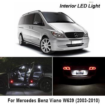 21 sztuk dla Mercedes Benz Viano W639 (2003-2010) błąd canbus bezpłatne pojazdu LED żarówki do wewnętrznych lamp samochodowych zestaw lampowy pakiet tanie i dobre opinie BADEYA CN (pochodzenie) oświetlenie tablicy rejestracyjnej 300LM BA9S 12 v WHITE Mercedes-benz High Quality 5730 SMD LED Bulb