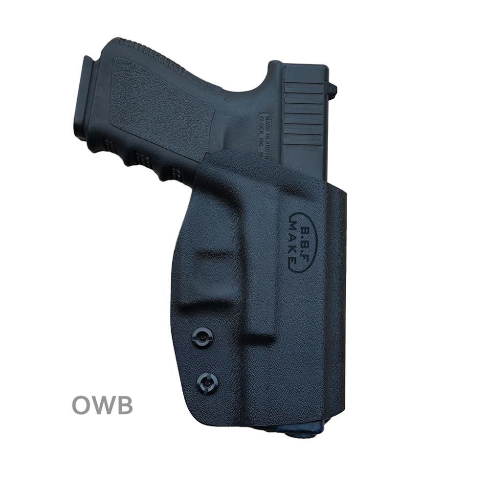 BBF Make OWB KYDEX Holster Fits: Glock 19 19x 23 32 17 22 3125 26 27 33 CZ P10 Gun Holster Belt Outside Carry Pistol Case Pouch