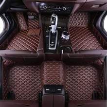 Personalizada de couro Auto Pé tapete do assoalho do carro Para bmw f10 f11 x3 x4 x5 e53 e70 e83 f48 f34 e70 x6 e71 e90 x1 e30 acessórios à prova d' água