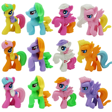 12 Pcs cute mini model  Figurines Kids Toys Applejack Rarity Fluttershy Pinkie Pie Starlight Glimmer action figure toys