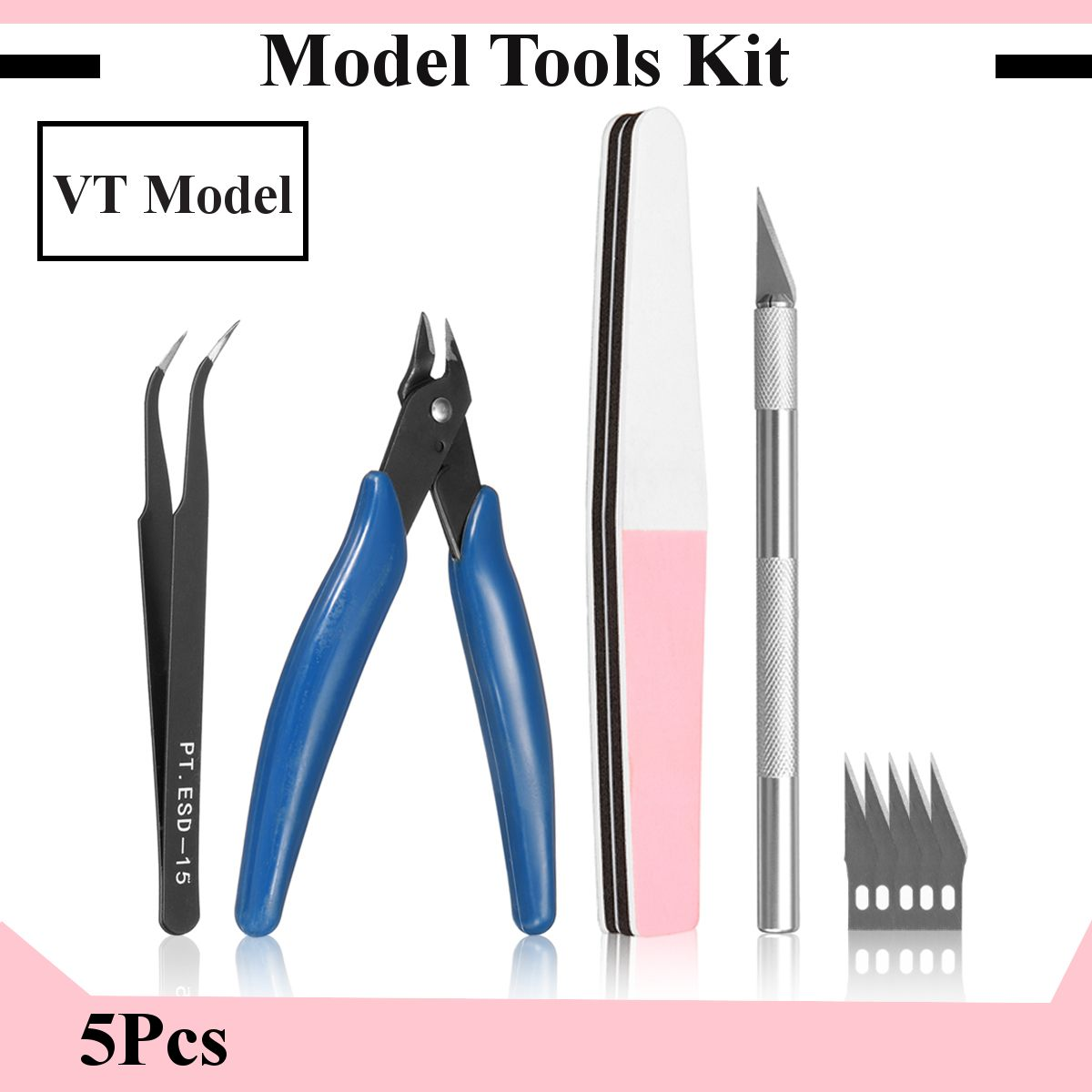 Basic Tool Set for Trumpeter Meng Gundam Palsitc Model Kits Grinding DIY Suite Of Tools Craft Set Hobby Accessory image