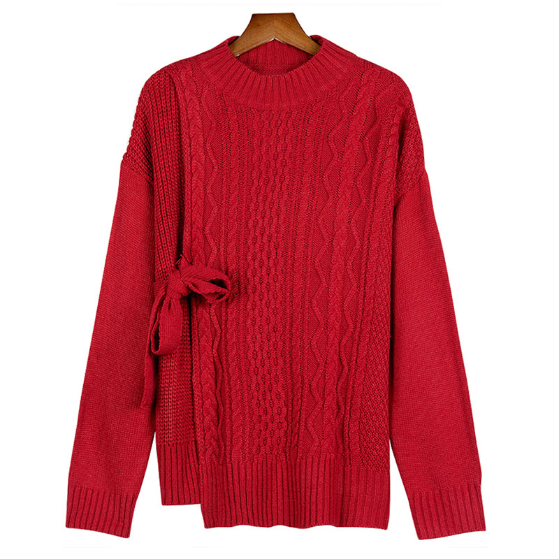Women's  Sweater Loose Lace Retro Twisted Fork Irregular Thick Winter Sweater Christmas Sweaters Knit Pullovers Female ML150